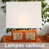 Lampes cailloux