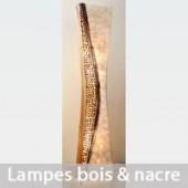 Lampes bois et nacre