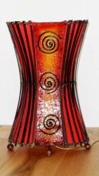 lampe spirale résine et tissu rouge