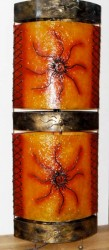 grande lampe ovale soleil orange