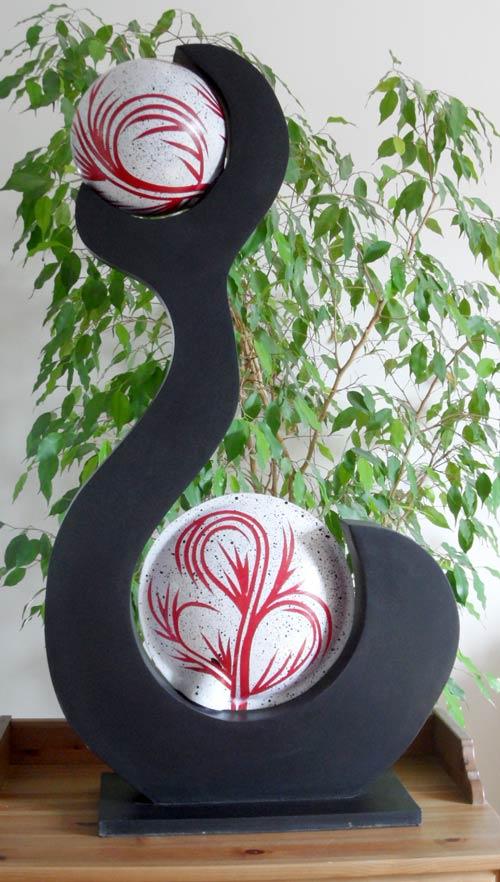 lampe contemporaine 2 boules. Black Bedroom Furniture Sets. Home Design Ideas
