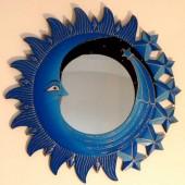 miroir comète bleu