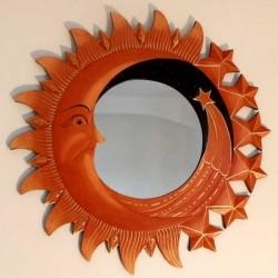 miroir comète marron
