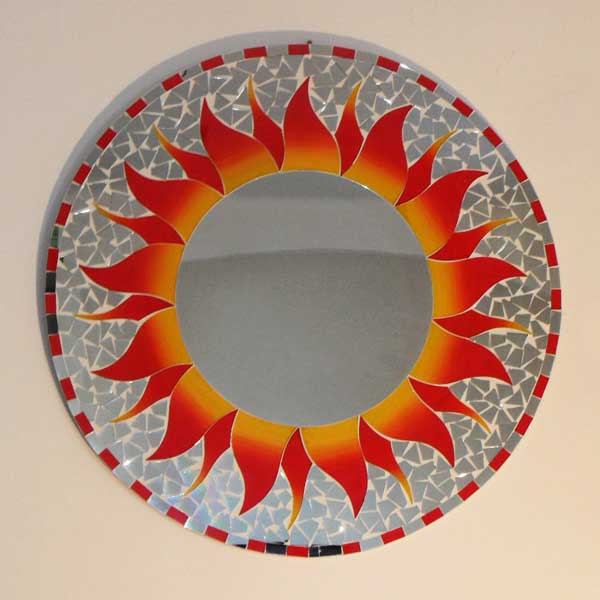 Miroir mosa que orange 60 cm for Miroir en mosaique
