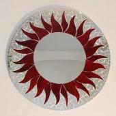 miroir mosaïque rouge