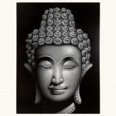 Tête de bouddha argent