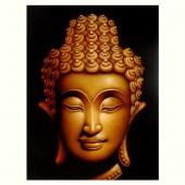 Tête bouddha doré
