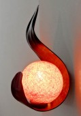 applique flamme orange