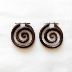 boucles oreilles spirales