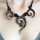collier 3 spirale tribale
