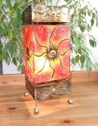 lampe-carre-rouge-eclaire-LR017