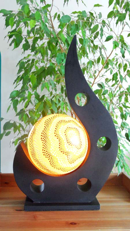 Lampe contemporaine 1 boule jaune - Lampes contemporaines ...