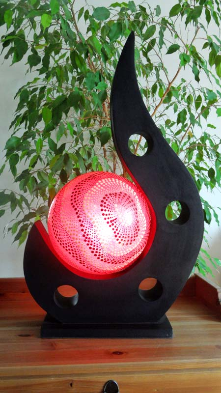lampe contemporaine 1 boule rouge. Black Bedroom Furniture Sets. Home Design Ideas