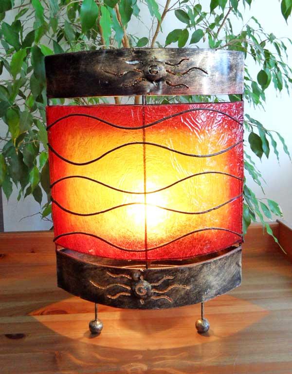 lampe orientale ovale soleil couchant 40 cm. Black Bedroom Furniture Sets. Home Design Ideas