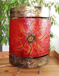 lampe-ovale-soleil-rouge-eteint-LR006