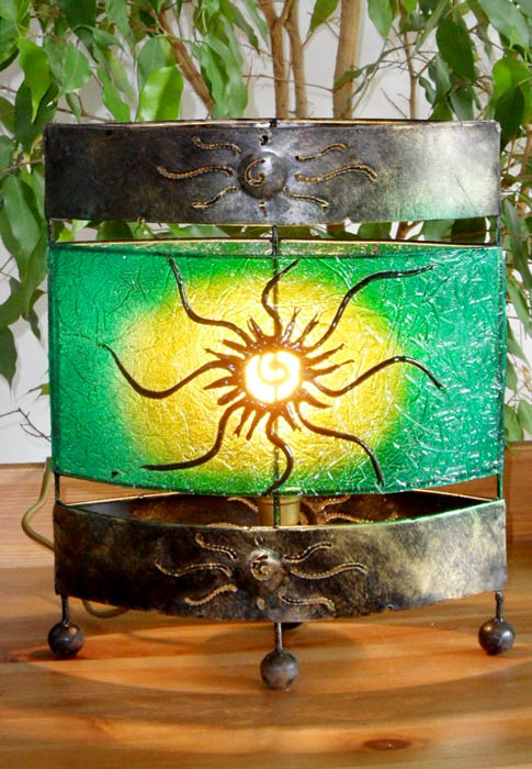 lampe orientale ovale soleil vert 30 cm. Black Bedroom Furniture Sets. Home Design Ideas