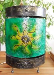 lampe-ovale-soleil-vert-eteint-LR009