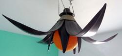plafonnier tulipe orange