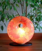 lampe-design-donut-orange-eclaire