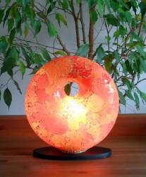 lampe-design-donut-orange-eclaire