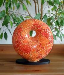 lampe-design-donut-orange-eteinte