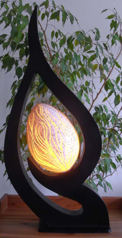 Lampe contemporaine feuille d or jaune - Lampes contemporaines ...