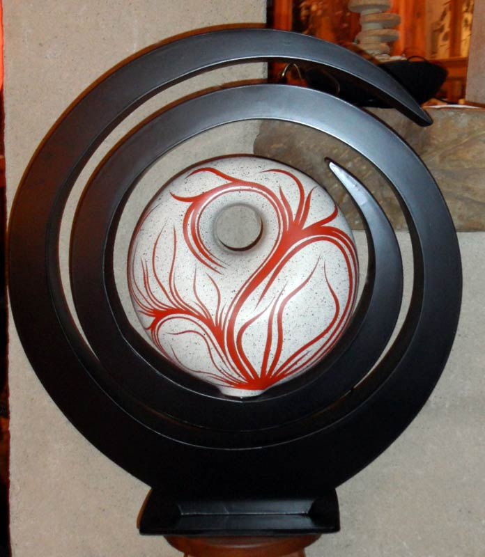 Lampe contemporaine spirale rouge - Lampes contemporaines ...