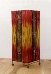 lampe carré decor vertical rouge