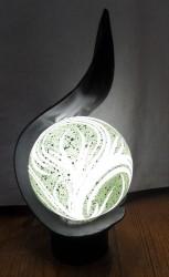 lampe flamme boule resine eclaire