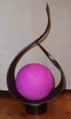 lampe namaste noire boule fils
