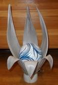 lampe tulipe blanche boule resine