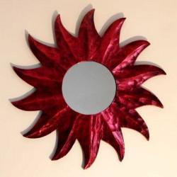 miroir soleil rouge