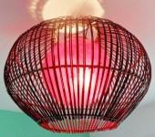 plafonnier boule rouge