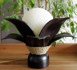 lampe fleur de lotus boule blanche