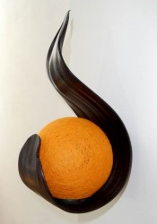 applique flamme orange