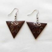 boucles oreilles triangle arabesque argent