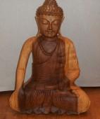 bouddha bois  50 cm