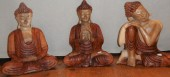 bouddha bois bicolore 30 cm