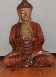 bouddha bois bicolore 30 cm - Copie (2)