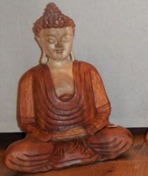 bouddha bois bicolore 30 cm - Copie
