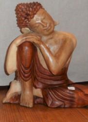 bouddha bois bicolore 30 cm - Copie (3)