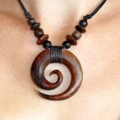 collier grosse spirale