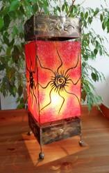 lampe-carre-rouge-eclaire-LR018