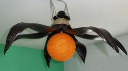 plafonnier soleil orange