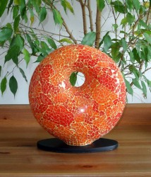 lampe-design-donut-orange-eteinte