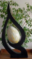 lampe-design-feuille-or-eteint