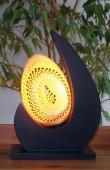 lampe-design-lune-jaune-eclaire