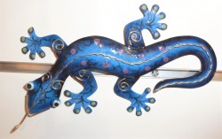 gecko 3 tailles bleu