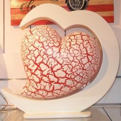 lampe design coeur rouge eteinte