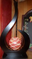 lampe design petite flamme noire